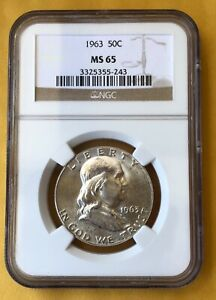 1963 Franklin Half Dollar MS65 - An incredible silver coin