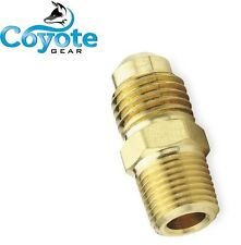 """Ships Free 3/8"""" Flare Tube x 3/8 Male MPT Pipe Thread Adapter Brass Fitting  NPT"""