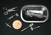 Arzt Besteck Doktor Miniatur 1:12 Puppenstube Diorama Setzkasten Puppenhaus 1:6