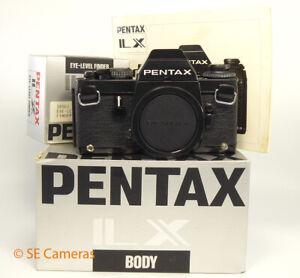PENTAX LX 35MM SLR CAMERA BODY & FA-1 EYE LEVEL FINDER ** BOXED & MINT **
