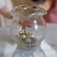 Artisan Dollhouse HANDMADE GLASS FISH BOWL Miniature Artist Made Doll House Pet