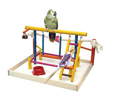 New listing Penn Plax Ba148 Bird Toy Activity Center With Perches, Ladders, Bell, and Rope