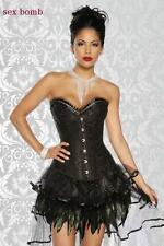 SEXY completo BURLESQUE party gonna+corsetto STRASS+perizoma tag. S,M (40,42)