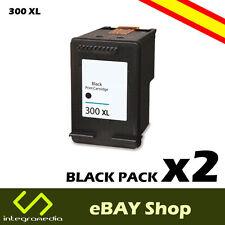 2 Cartuchos Compatibles 300 XL (CC641EE) Negro para imp. HP Deskjet F2420