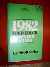 1982 FORD CL-9000 SERIES TRUCK ORIGINAL FACTORY OWNERS MANUAL GUIDE