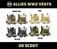 Brickarms WW2 US SCOUT VEST for  Minifigures -Pick your Color!-