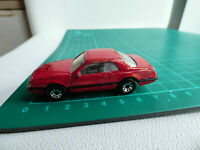 Matchbox DieCast 1987 Red Ford T BIRD TURBO COUPE 61 Toy Car Collectible 1:67