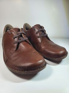 Patagonia Loulu Walnut Brown Men's Oxford Leather Lace-up Shoes 9.5