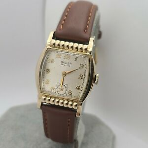 Vintage Gruen Guild 415 720 Manual winding watch 10K G.F 15Jewels 1950s