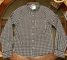 Abercrombie & Fitch Muscle Fit Sport Shirt Plaid Navy Blue Sz Small New with Tag