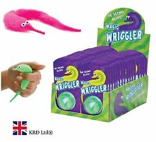 MAGIC WRIGGLER Toy Worm Furb Squashy Tactile Hairy Sensory Autism Stress Relief