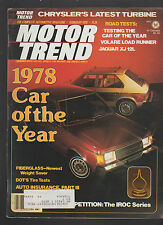 Motor Trend Magazine February 1978 Car of the Year Dodge Omni Plymouth Horizon