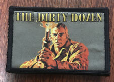 The Dirty Dozen Movie Morale Patch Tactical Military Flag USA Badge hook Army
