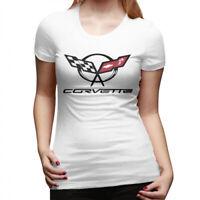 Women Corvette Logo Short Sleeve t shirt Tee