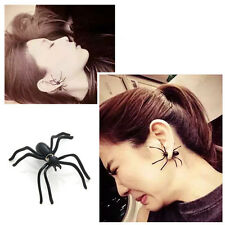 1Pc Punk Fashion Womens Black Spider Charm Ear Stud Earrings Jewelry Xmas Gift
