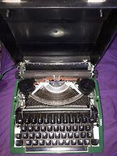 vintage silver seiko typewriter dark green excellent with original casing