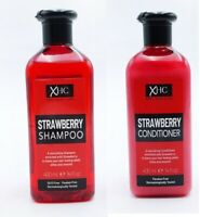 XHC Strawberry Shampoo & Conditioner Set 400ml Sleek Shiny Hair Paraben Free