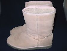 Women's AIRWALK Pink Mid-Calf Faux Shearling Lined Boots Size 9.5 Leather Upper
