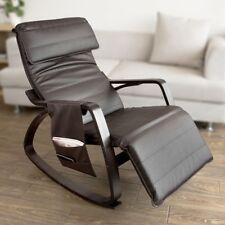 Sobuy piel Sintética relax mecedora Salón silla con Reposapies Fst20-br GB
