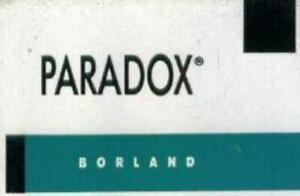 Borland Paradox 3.5 PC business create tables relational database application!