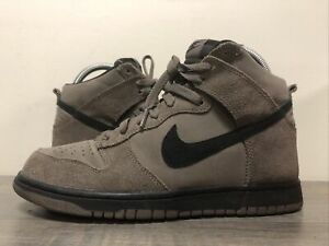Men's Nike Dunk High Dark Mushroom Suede Leather Black Sz 7.5 (904233-200)