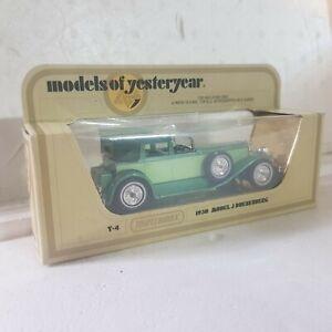 Vintage Matchbox models of yesteryear y4  1930 model j duesenberg green