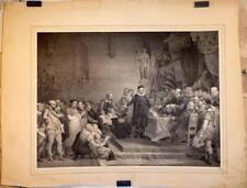 """Lithographie d'après M. van BREE par J.PINNOY, """"Scène de jugement"""""""
