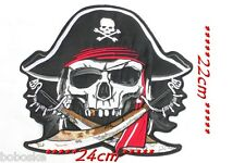 Gand Patch tissus à tête de de Pirate à coudre ou à coller au fer à repasser