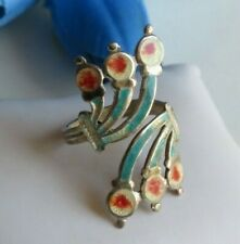 Vtg Jeronimo Fuentes Blue Enamel Silver Fish Bypass Ring after Margot de Taxco