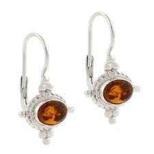 Leverback Amber Fine Earrings