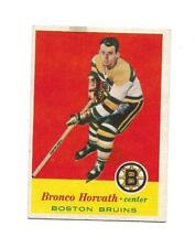 1957-58 Topps:#7 Bronco Horvath,Bruins RC