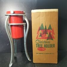 Vtg Collapsible Christmas Tree Stand Holder Original Box Handy Things Mfg No.14