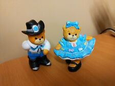 2 pc. Lucy & Me Bear Figurines: Square Dancers