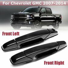 Pair Left+Right Front ABS Exterior Door Handles For Chevrolet GMC  W New