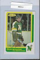 Don Beaupre 1986 OPC Autograph #89 North Stars