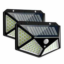 2pcs Lampada luce faretto faro esterno energia solare 114 LED sensore movimento