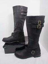 "Type Z Black ""Martiz"" Tall Buckle  Fashion Boots  W/Box Sz 11 M EUC"