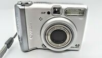 Canon PowerShot A520 4.0MP Digital Camera - Silver (Tested)