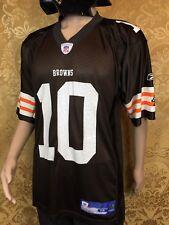 Reebok On Field Cleveland Browns #10 Brady Quinn Nfl football jersey/shirt men M