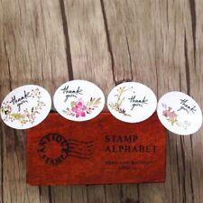 120pc Vintage Flower Thank You Ellipse Sealing Label Adhesive Kraft Seal Sticker
