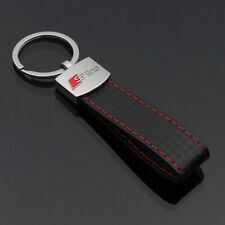Audi S Line CARBON A3 A4 A5 A6 A8 Q5 7 TT Pendant Keyring KeyRing Chain UKStock