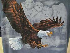Mt. Rushmore Bald Eagle Patriotic American Mens Size XL National Park Tee Shirt