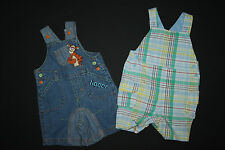 2x Latzhose Jeans Disney at George + Mothercare, 0-3 Mon (Gr. 50 56 62), neu