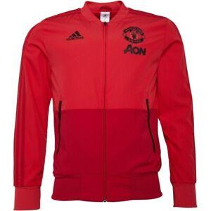 adidas Manchester United FC Presentation Jacket Sizes S, M, 2XL, 3XL Pink CW7629