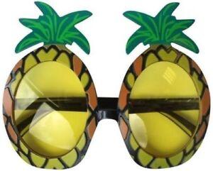 PINEAPPLE SUNGLASSES HAWAIIAN BEACH HEN STAG PARTY NOVELTY FANCY DRESS GLASSES
