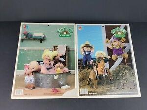 Cabbage Patch Kids Lot Of 2 Vintage Frame Tray Puzzles