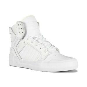 Supra Skytop 77 High-Top Shoes - White / White