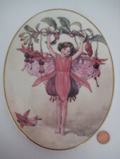 FLOWER FAIRY PLATE CICELY BARKER THE FUCHSIA  FAIRIES  ROYAL WORCESTER 75  YEARS
