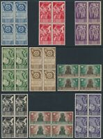 Stamp Italy Poland Blocks Sassone 18-26 WWII 1945 Polish 2nd Corps Set MNH