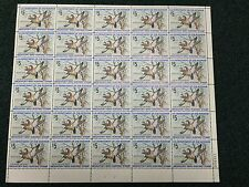 1975 US Federal Migratory Waterfowl Duck Stamp RW41 MNH Full Sheet Of 30